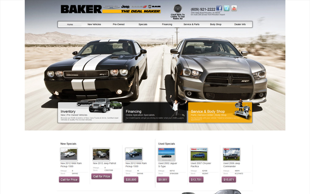 Baker Chrysler Jeep Dodge Ram | Jeep Dealer Website Design | Chrysler Dealer  Website Design | Dodge Dealer Website Design