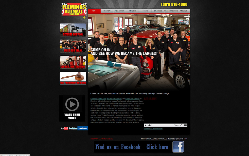 Flemings Ultimate Garage | Classic Car Websites | Classic Car ...