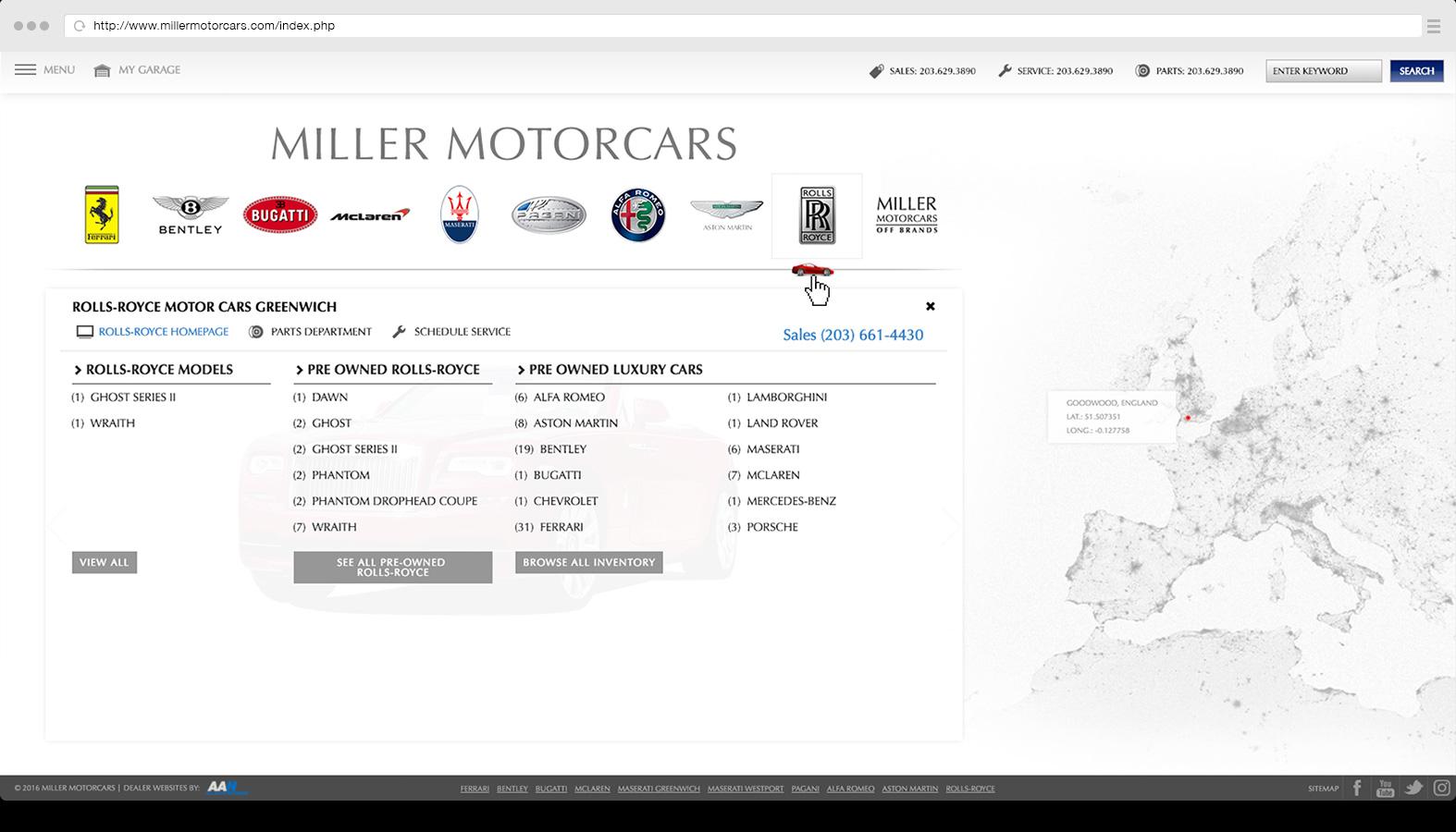 Portal / Landing page navigation