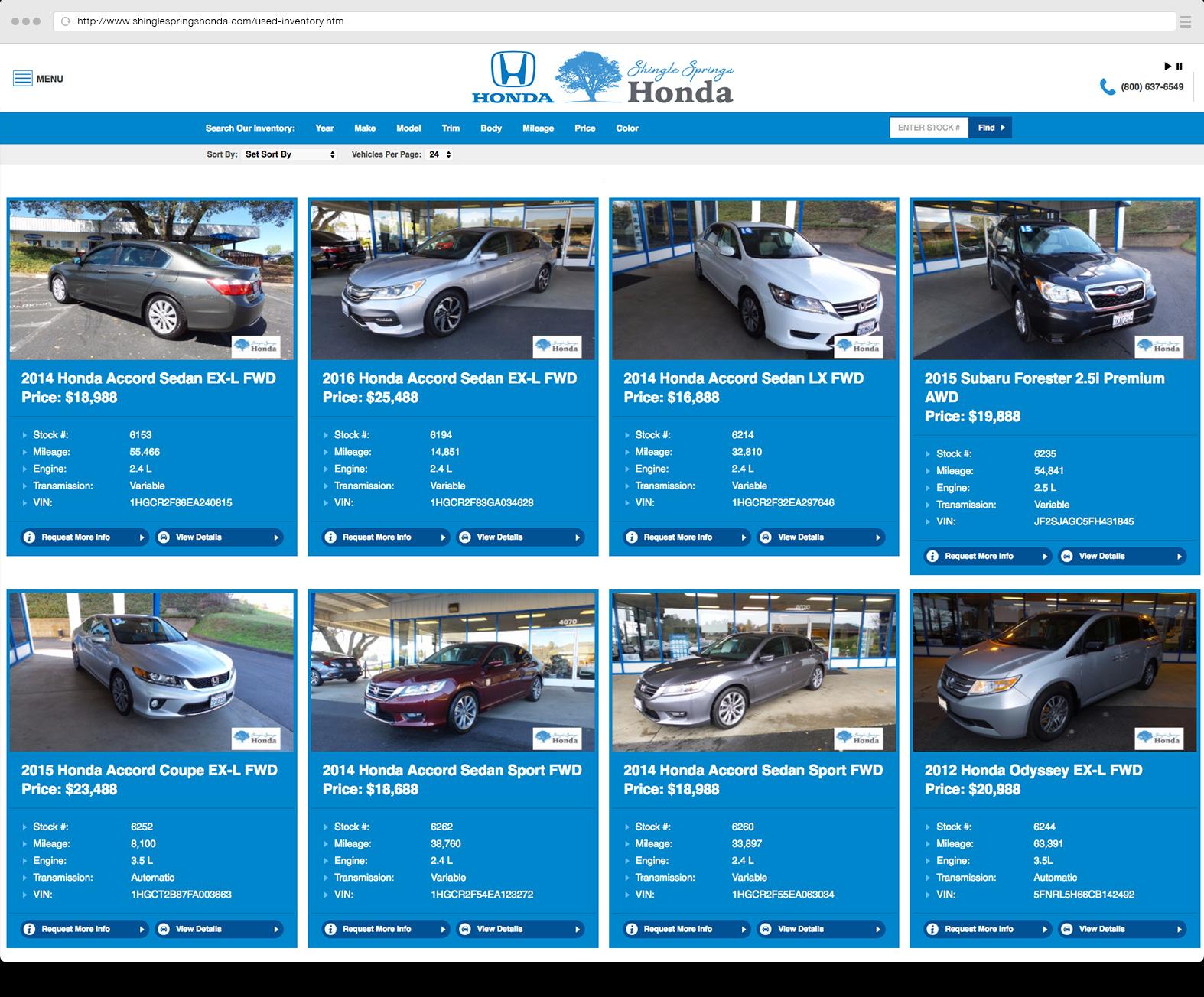 Inventory listing