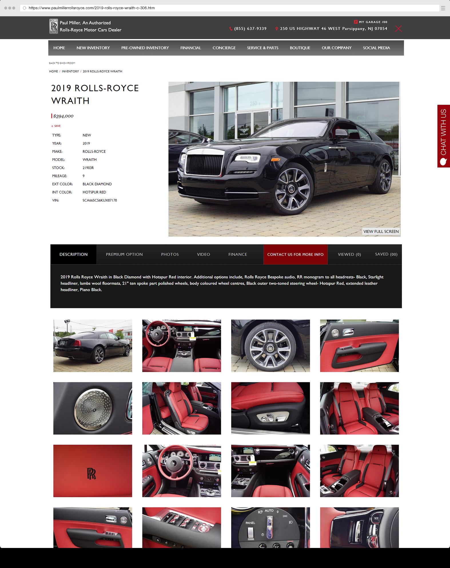 Vehicle Detail Paul Miller Rolls Royce