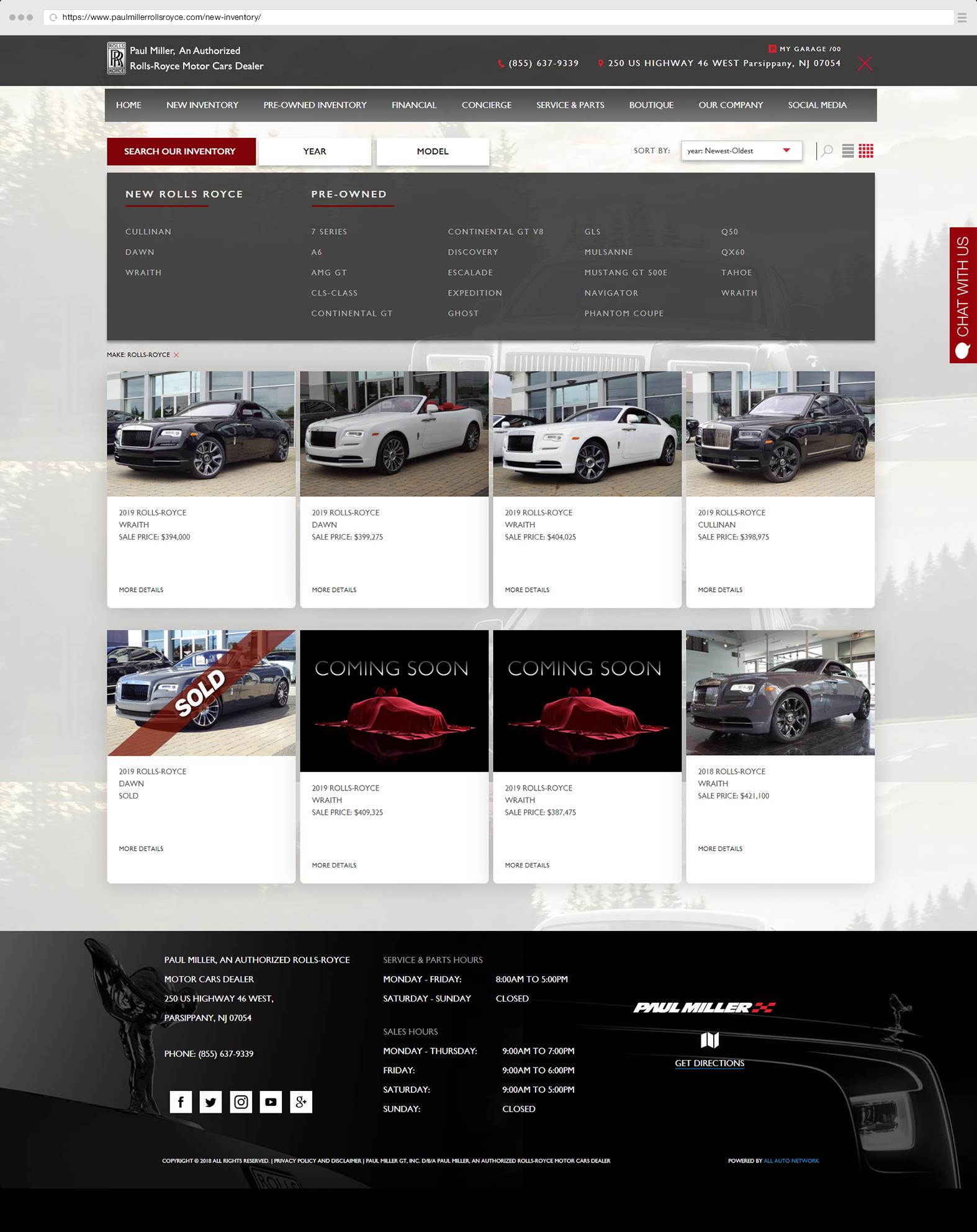 Inventory Paul Miller Rolls Royce