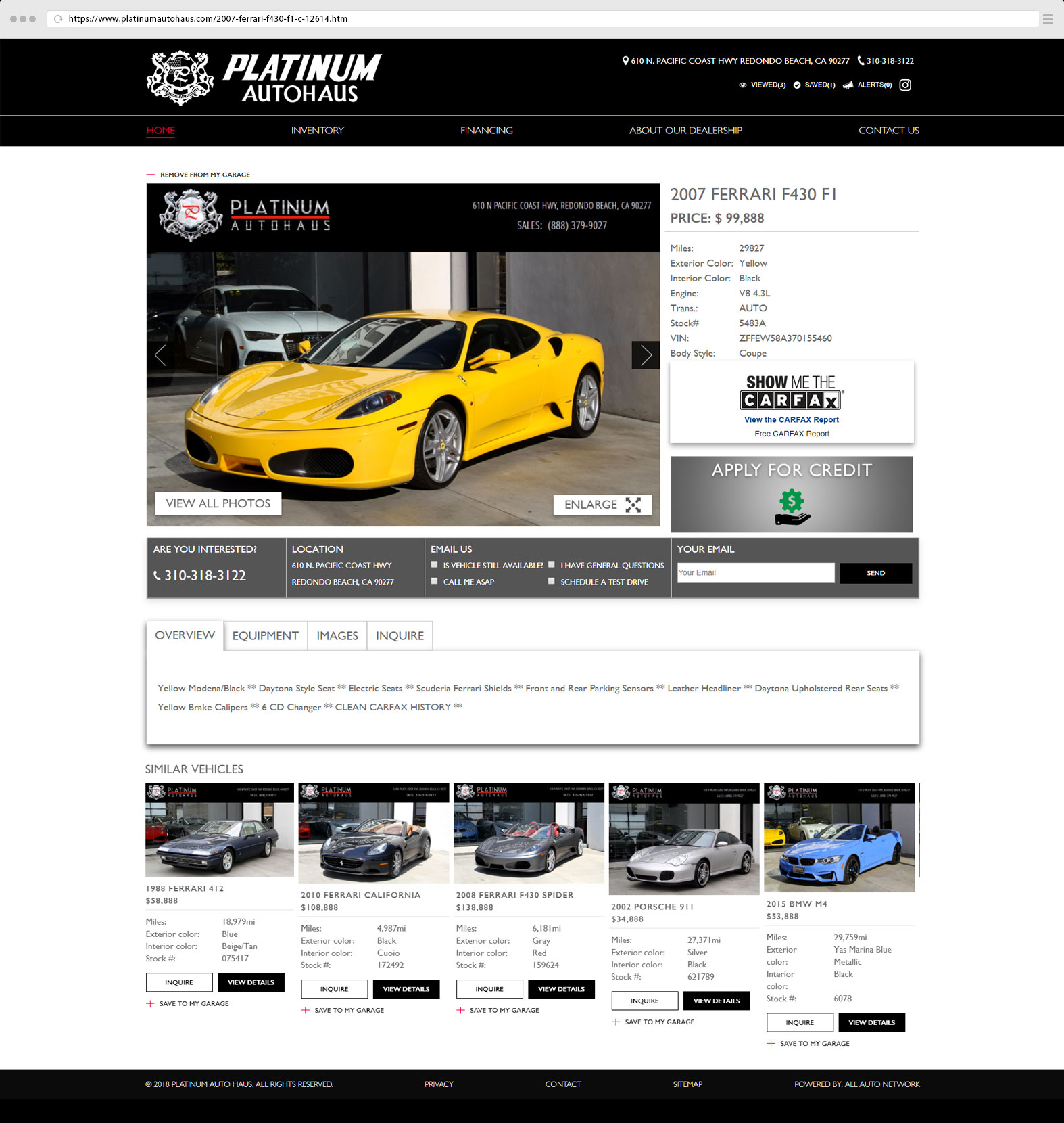 Vehicle Page